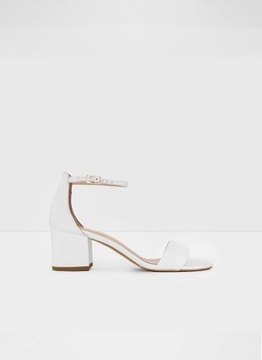 Aldo Villarosa-Tr - Beyaz Kadin Topuklu Sandalet Beyaz